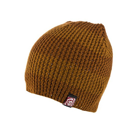 GORRO MOUNTAIN DE RAYAS MARRONES