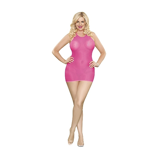 MAGIC SILK VESTIDO HALTER Y TANGA ROSA