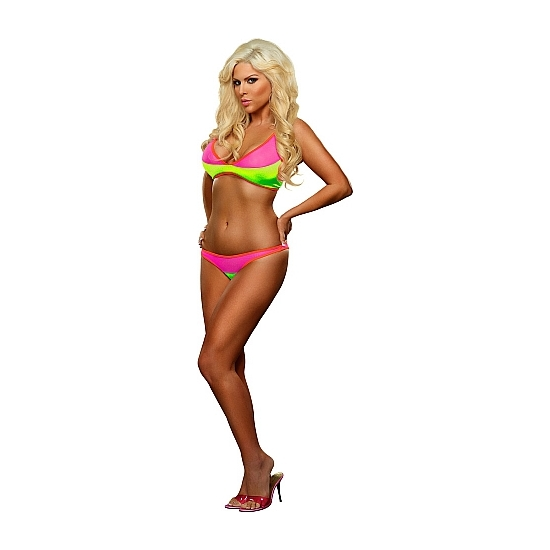 MAGIC SILK BIKINI 2 PIEZAS MULTICOLOR FUCSIA/LIMA