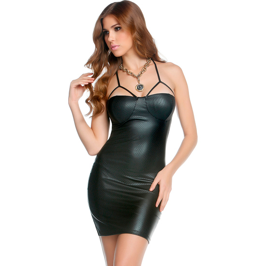 FORPLAY MINI VESTIDO BALCONETTE NEGRO